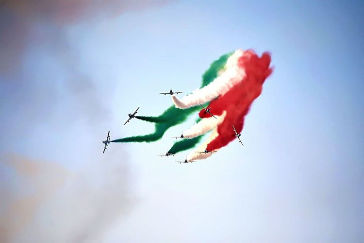 La Bella Italia Italy Pride National Italia Aereo Tricolore Sky Show Amazing Fighter Plane Formation Flying Acrobatic Activity Exhibition
