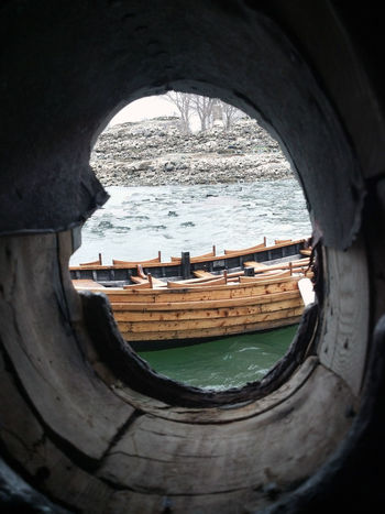 porthole view Boat Composition Knot Of The Day Nautical Vessel Old Port Aventura Port Hole Transportation Water Wood - Material