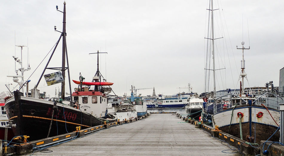 Nautical Vessel Transportation Mode Of Transportation Water Harbor Moored Sky Pier Sea Nature Direction Day No People The Way Forward Commercial Dock Sailboat Pole Outdoors Mast Port Fishing Industry Fishing Boat Reykjavik