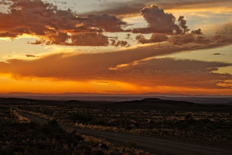 The Secret Spaces The Karoo South Africa Sunset Tranquil Scene Beauty In Nature Tranquility Landscape The best space to calm down - the great Karoo