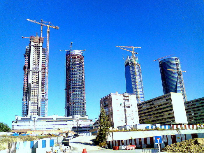 4 Torres Madrid Spain Building Capital Cities  City Construction Famous Place Skyscraper Tower Las 4 Torres, Madrid, Spain