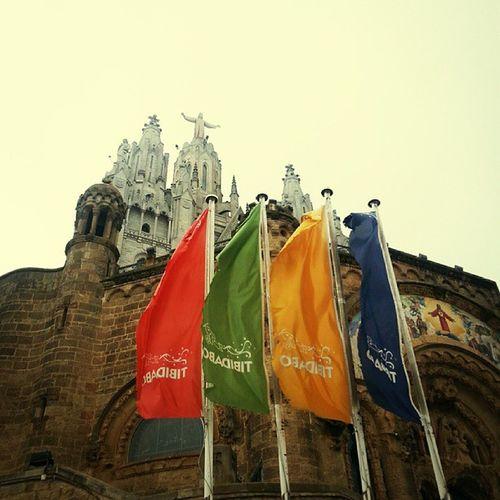 Tribidado mountain Tribidado Barcelona Barcelona2013 Holiday spain mist hazy
