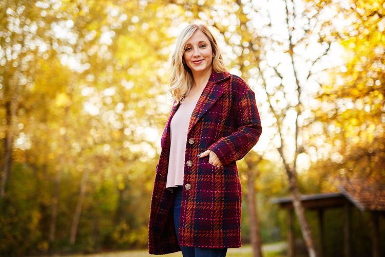 Adult Adults Only Autumn Beautiful People Beautiful Woman Beauty Blond Hair Casual Clothing Day Focus On Foreground Happiness Leaf Long Hair Nature One Person One Woman Only One Young Woman Only Only Women Outdoors Scarf Smiling Standing Tree Young Adult Young Women
