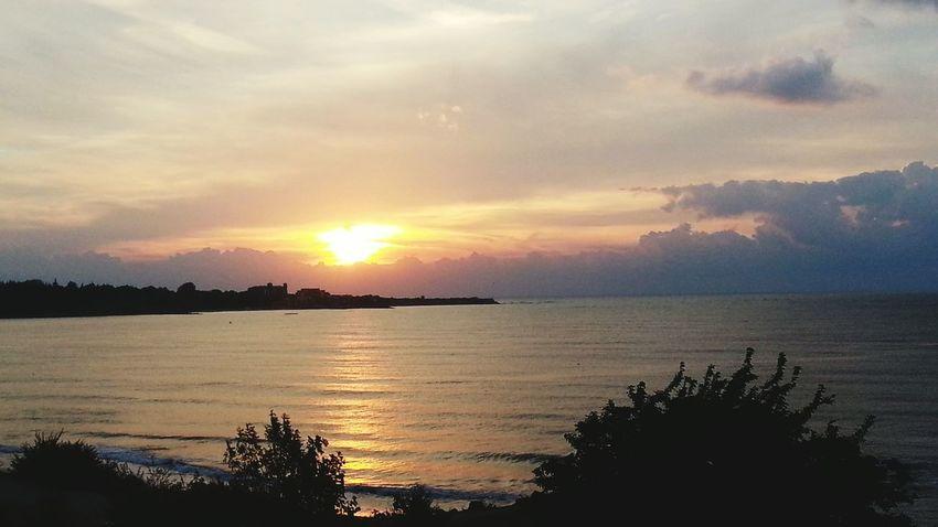 Доброе утро море солнце волны пляж Болгария Несебр Bolgaria Sea Nature