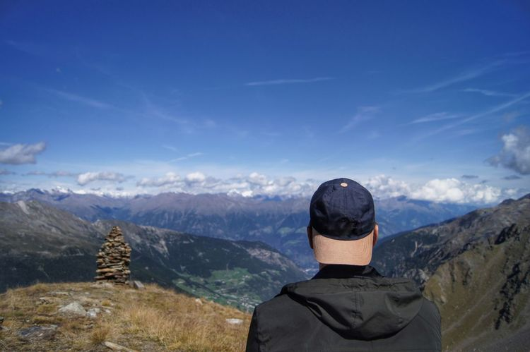 Südtirol - Wandern Alpen Alpine Adult Adults Only Adventure Alps Beauty In Nature Cloud - Sky Day Hiking Landscape Men Mountain Mountain Range Nature One Man Only One Person Only Men Outdoors People Real People Rear View Scenics Sky Standing Lost In The Landscape