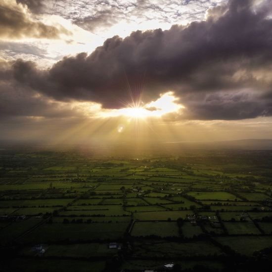 Agriculture Rural Scene Beauty In Nature Field Tranquil Scene Landscape Nature Scenics Farm Tranquility Cultivated Land Crop  Idyllic Sky No People Sun Cloud - Sky Outdoors Patchwork Landscape Growth Dji Drone  Architecture Ireland Limerick