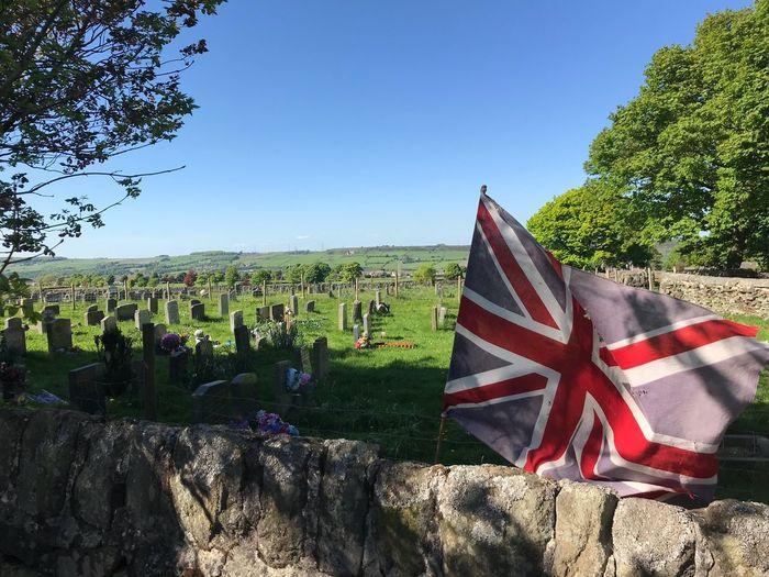 Union flag 🇬🇧 British Cemetary Plant Sky Flag Tree Nature Day Growth Patriotism