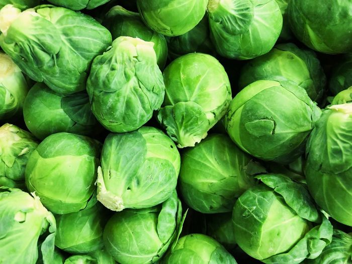 Brussels Brussels Sprout Food And Drink Food Green Color Healthy Eating Full Frame Freshness Wellbeing Large Group Of Objects Still Life Directly Above High Angle View Close-up Abundance No People Backgrounds Plant Part Vegetable Day Leaf Plant