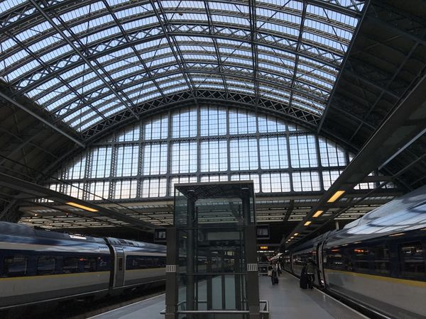 Architecture City Day Eurostar Indoors  Mind The Gap No People Public Transportation Rail Transportation Railroad Station Railroad Station Platform Train Train - Vehicle Train Platform Train Station Transportation Travel Travel Destinations BYOPaper! EyeEm LOST IN London