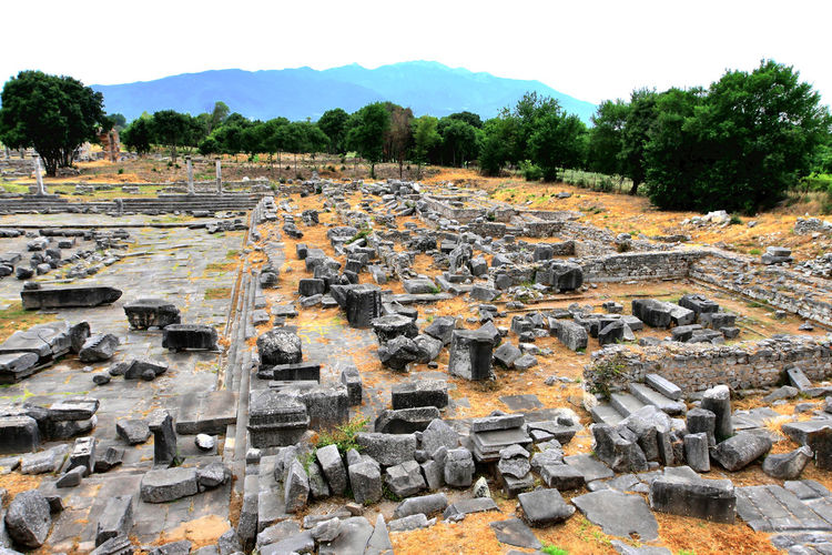 Visiting the Philippi archaeological site, Northern Greece Ancient Archaeology Day Excavation History No People Old Outdoors Past Ruins UNESCO World Heritage Site