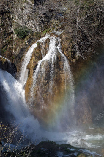 Plitvice Lakes National Park, Croatia Croatia Plitvice Lakes National Park Plitvicka Jezera Abundance Attraction Beauty In Nature Clear Green Lake Landscape Limestone Mountains Nature Nature Park Power In Nature River Rock Scenery Scenic Trees Untouched Water Waterfall Wild