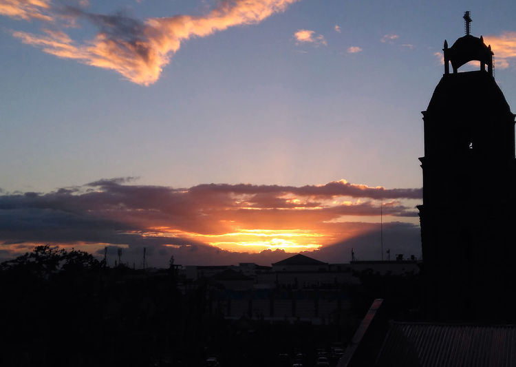 hell retreats.. Church Sunset Silhouettes Architecture Belltower Building Exterior Cloud - Sky Silhouette Sky Sunset