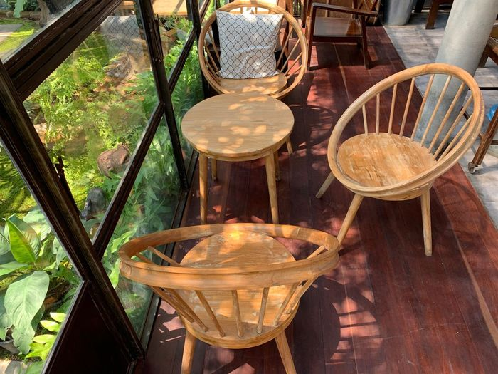 Table Basket Food And Drink Chair Seat Container Day No People Nature Wood - Material High Angle View Close-up Freshness Food Glass - Material Outdoors Business Front Or Back Yard Focus On Foreground Transparent