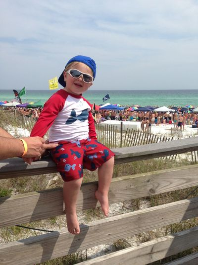 Chicks love me in Destin, Florida! Cute Kid Red Swimsuit Wearing Swimsuit Wearing Sunglasses Summertime Kids Fashion  Beach Day Beach Time Sitting Down Sky Water Sea Real People Childhood Sunglasses Child Beach Outdoors Males  Nature Leisure Activity Full Length Fashion Glasses Incidental People Horizon Over Water Horizon First Eyeem Photo