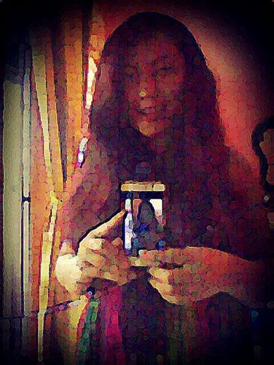 Have A Nice Evening ♡ Me, My Self And I That's Me Mirrorselfie Pop Art Color Reflections Long Hair Bored My Room :)