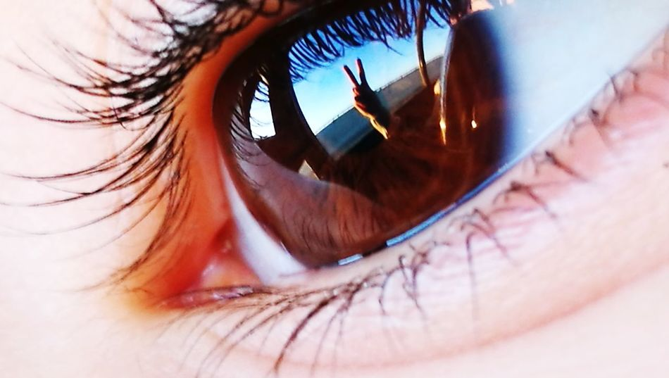 Close-up No People No Edit Beutiful  Beutyfull Eye Finger In Eye Refliction By Me ♡♡ Oo LICA LENS Eye Macro Refliction Hand In Eye