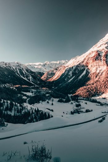 The beautiful Swiss Alps Winter Snow Cold Temperature Scenics - Nature Mountain Beauty In Nature Sky Non-urban Scene No People Landscape Snowcapped Mountain Tree Mountain Range Plant Environment Tranquility Tranquil Scene Nature Idyllic Pine Tree