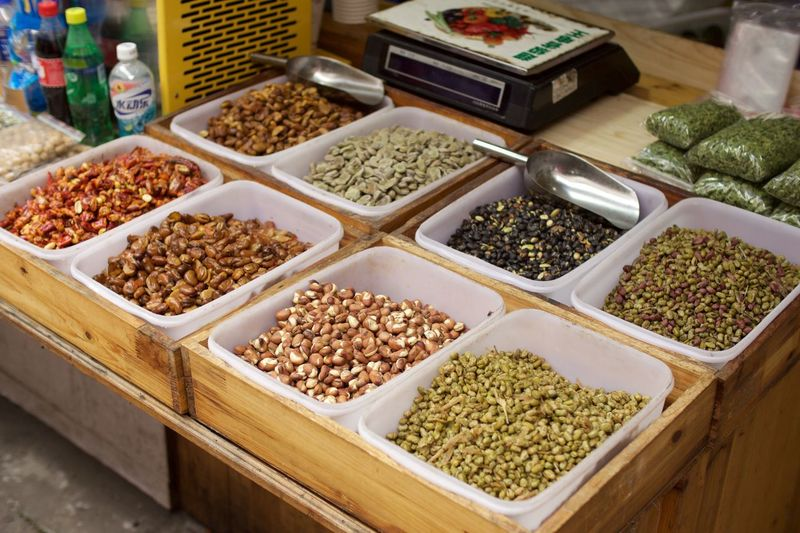 Kind of nuts Abundance Arrangement Chinese Culture Chinese Food Choice Food For Sale Healthy Eating Large Group Of Objects Market Market Stall No People Retail  Small Business Tourism Variation