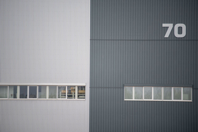 Full frame minimalistic shot of building