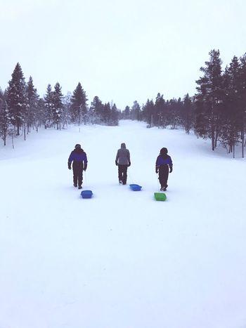 Saariselka snow sledging toboggan Winter Snow Cold Temperature Fun Tobogganing Finland Saariselkå Walking Peaceful The Great Outdoors - 2017 EyeEm Awards