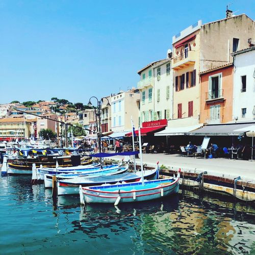 France Cassis Building Exterior Architecture Water Nautical Vessel Built Structure Mode Of Transportation Transportation City Day Outdoors Waterfront Clear Sky