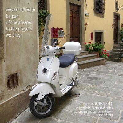 No19 in series 'in our prayers (contemplative intercession)' Shrine Prayer Contemplation Stillness Motorbike Motorcycle Cortona Scooter Piaggio Vespa Answer
