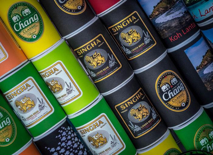 Beer Bottle Bottleholder Branch Change Cultures Leo Pattern Singha Souvenier Travel Photography