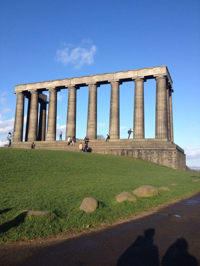 Low Angle View Of Calton Hill National Monument Against Sky