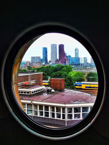 Window Fresh On Eyeem  Window To The World City View  Peep Hole Peeking Cityscape Looking Through The Window