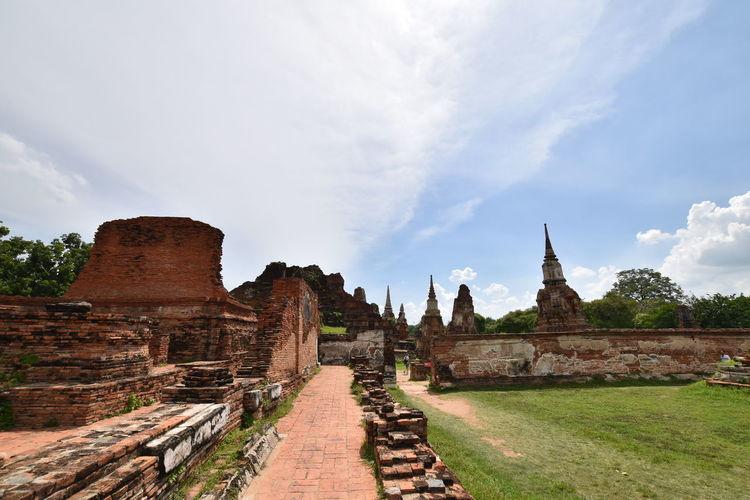 Old Ruins Of Temple At Wat Mahathat Yuwaratrangsarit