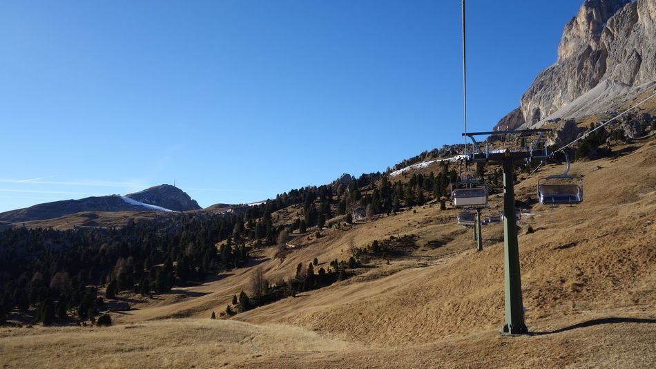 Alps Amazing Amazing View Autumn Colors Beauty In Nature Clear Sky Italy Italy❤️ Landscape Leisure Activity Leisure Time Mountain Mountain Range Mountains Nature No Snow  Scenics Selva Di Valgardena Ski Lift Taking Photos Taking Pictures Vacation Vacations Winter Wintertime