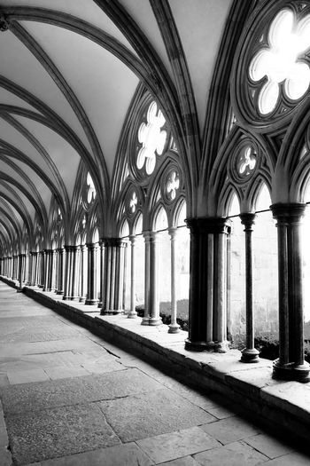 Cathederal Salisbury Salisbury Cathedral  Abbey Arcade Arch Architectural Column Architecture Belief Building Built Structure Ceiling Cloistersimages Colonnade Corridor Day Direction Gothic Style In A Row Ornate Place Of Worship Religion Salisbury Cathederal Cloisters Spirituality The Way Forward