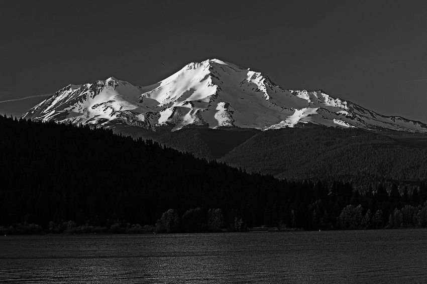 Beauty In Nature California Forest Geology Lake Lake View Landscape Majestic Mount Shasta Mountain Nature Physical Geography Scenics Silhouette Snow Snowcapped Mountain Summit Sunny Sunset