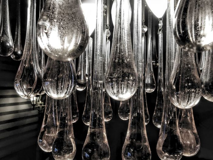 Close-up of glass hanging on table