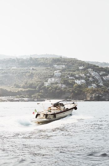 Transportation Nautical Vessel Nature Mode Of Transport Day Sea Outdoors No People Water Clear Sky Beauty In Nature Sky Boat Sorrento Boattrip Italy Waves Summer Summermood Italy❤️