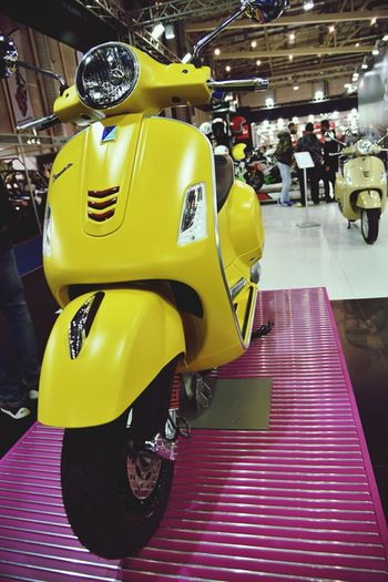 Yellow Transportation Indoors  Full Length People Day Adult Athens Motorbike Exhibition 2017 Technology Arts Culture And Entertainment Exhibition Exhibit Art Photographic Photograph Photographer Gallery Visitor Watchers Watch See Look Looking Private Public Blurred Blur Out Of Focus Photography Documentary Reportage Street Transportation Indoors  Mode Of Transport Close-up