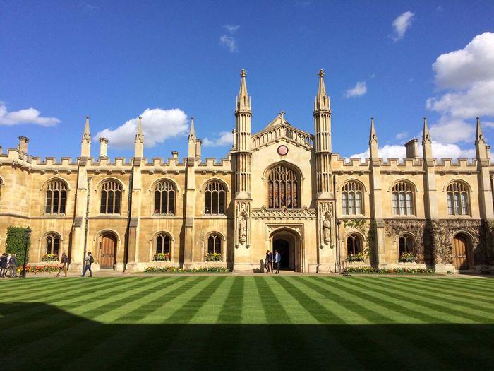 Corpus christi college against sky