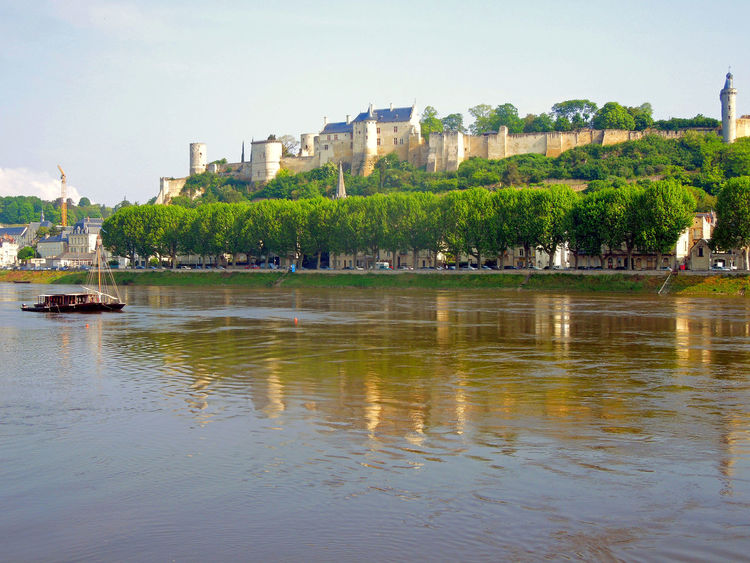 Architecture Building Exterior Built Structure Castle Chinon City Cityscape France No People Outdoors Reflection Residential Building River Sky Tree Vienne Water Waterfront