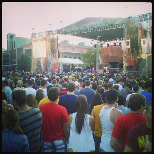 First concert at fallfest as freshman at wvu Concert MacMiller ChiddyBang BigSean  tbt