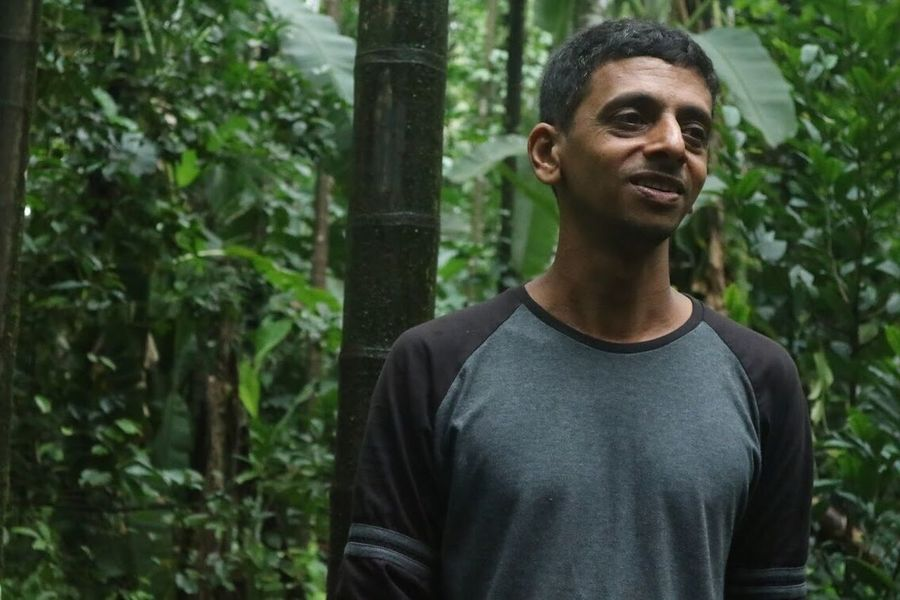 Spice Farm Owner One Person Front View Outdoors Casual Clothing Day Real People Tree Portrait Plant Nature Young Adult Adult People Adults Only Jungle Goa India