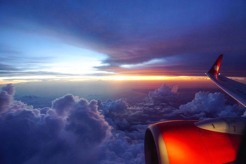 fligt Sunset