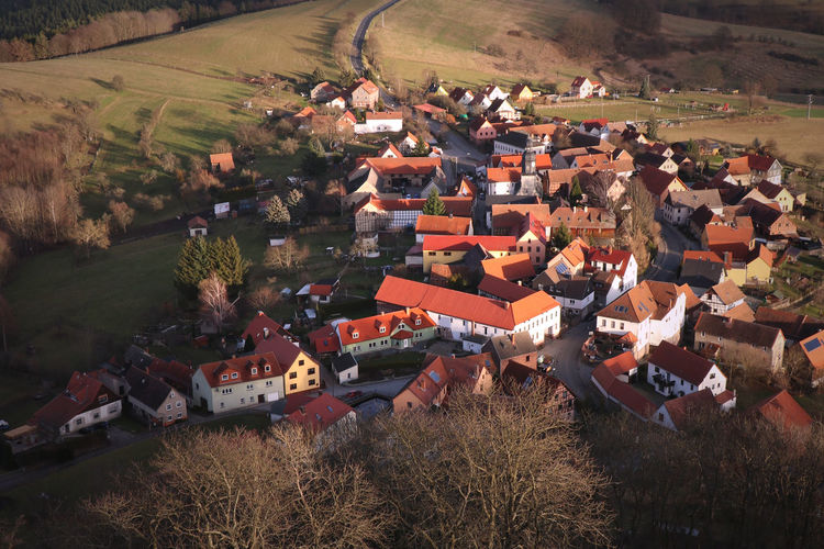 Autumn Thuringia Architecture Community Germany High Angle View House Nature Roof Rural Scene Seitenroda Village