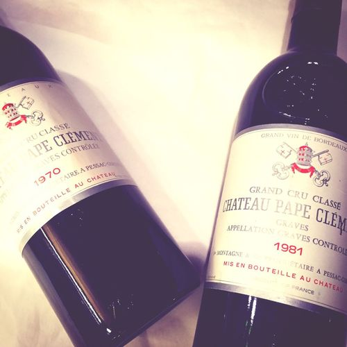 Château Pape-Clément 1970 and 1981 : elegants and harmonious wines approaching the full maturity. #wines #graves #bordeaux #papeclément