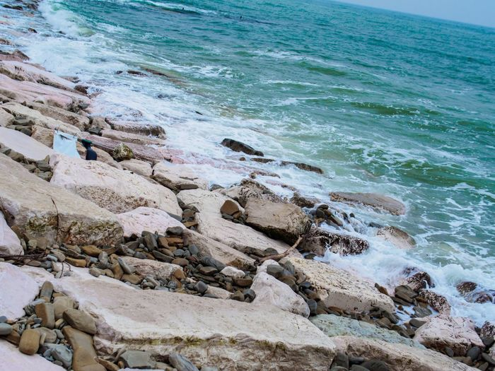 Beach Beauty In Nature Day High Angle View Nature No People Outdoors Scenics Sea Tranquility Water Wave