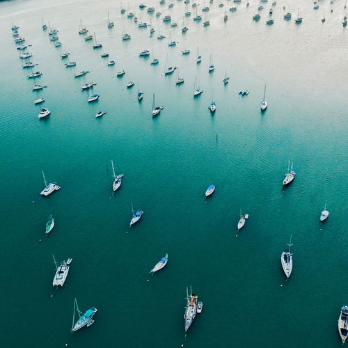 Aerial Aerial Shot Aerial View Backgrounds Beauty In Nature Blue Boat Elevated View Full Frame Marina Nature No People Ocean Paradise Sailboat Sailing Tranquility Travel Travel Destinations Travel Photography Traveling