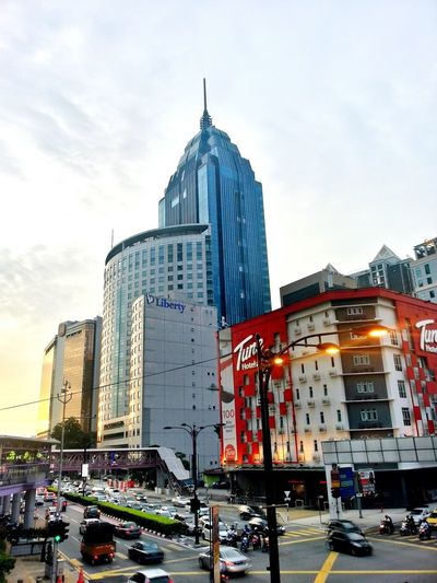 City Center Building Blue Sky Traffic Afterwork Photooftheday