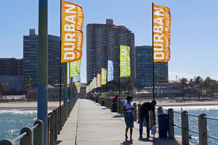 Bridge City Durban South Africa Flag Indian Ocean Outdoors Waterfront Wind