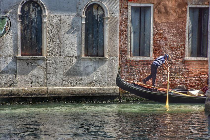 Gondola - Traditional Boat Window Architecture Building Exterior Built Structure Boat Gondola Venetian Lagoon Canal Gondolier Grand Canal - Venice