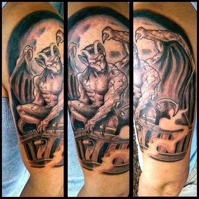 Gargoyle Tattoo Check This Out Tattooartist  Fullcustomtattoo Torstenmatthes Mrttattoo Customdesign