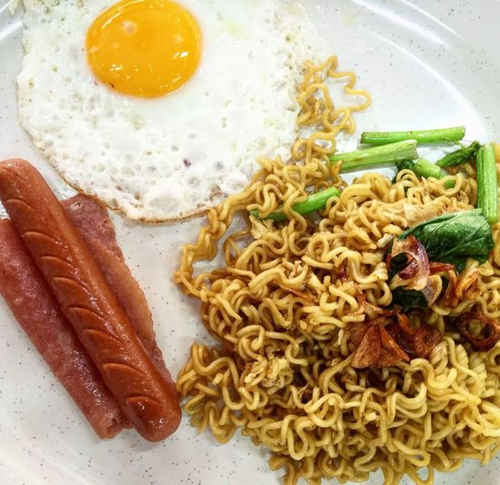 """This is one of the famous instant noodles """"indo mee goreng"""" among the local here... Close-up Egg Eggs Food Indo Me Instant Noodles Littlefoodtrail Littlefoodtrails Ready-to-eat"""